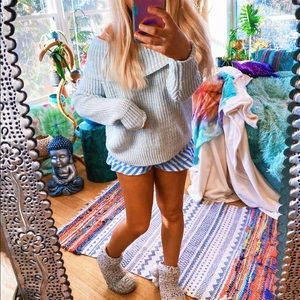 Milky Grey Off The Shoulder Cozy Lux Sweater ✨